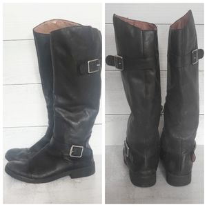 Lucky Brand Tall Black Riding Boots Size 6